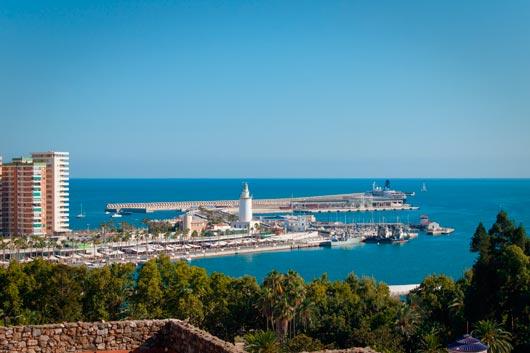 El clima soleado en el Puerto de Málaga